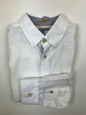 52746a180 TED BAKER - White Circle Shirt - 4 Large -  NEW WITH TAGS  RRP £90 ...