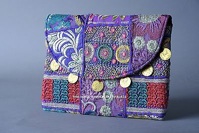 Banjara Clutch Vintage Purse Boho Indian Gypsy Handbag Handmade Tribal Purse Bag