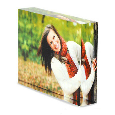 Personalised Acrylic Photo Block Frame Valentines Day Mothers Fathers Girlfriend