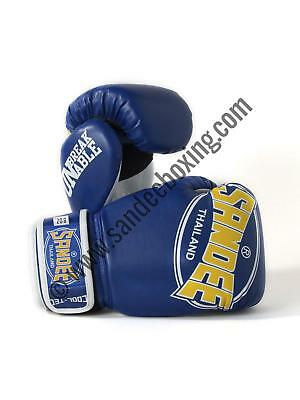 Sandee Cool-Tec Velcro Blue, Yellow & White Synthetic Leather Kids Boxing Gloves