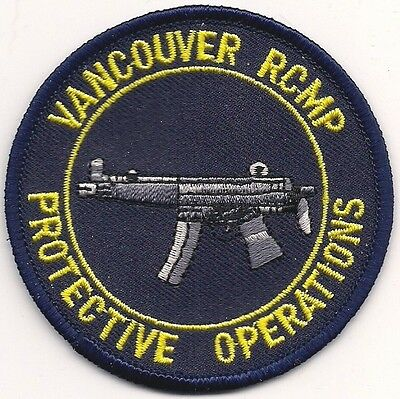 CANADA R.C.M.P.RCMP Vancouver Protective Operation SWAT SEK Police Polizei Patch