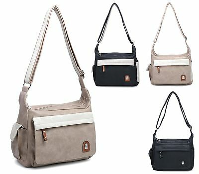 Womens Soft Faux Leather Slouch Messenger Crossover Everyday Shoulder Bag