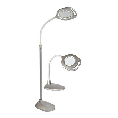 2-in-1 LED Floor and Table Craft Lamp | Chrome | Ottlite 43828C-AU