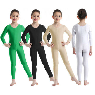 Girl Long Sleeve Ballet Dance Gymnastics Kid Catsuit Bodysuits Unitard Dancewear