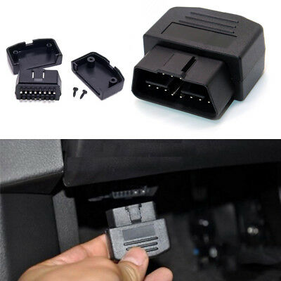 Universal 16 Pin OBD2 Male Connector Cable Adapter Terminal DIY Diagnostic Tool