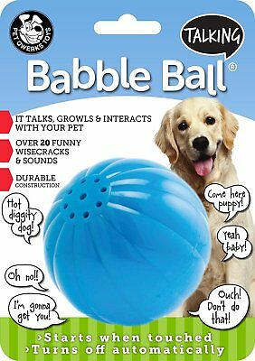 Pet Qwerks Large Talking Babble Ball Toy for Dogs