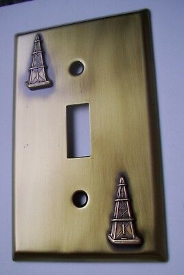 Light Switch Plate Cover  Brass Single Toggle -OIL DEREK  DESIGN