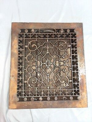 1 Antique Gothic Cast Iron Heat Grate Register Vent Old Vintage Hardware 92-18F