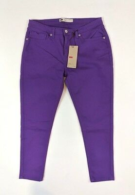 Levis Womens Legging Size 13/31 Mid Rise Purple Wash Jeans