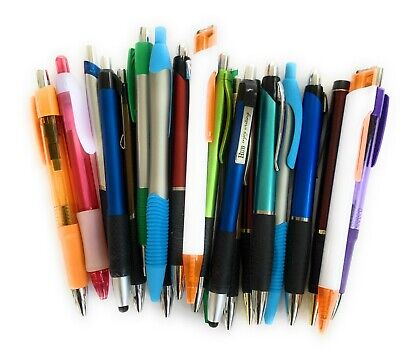 30 New Misprint Ink Pens, Mix of Plastic, Metal & Soft Tip Touch Screen Stylus
