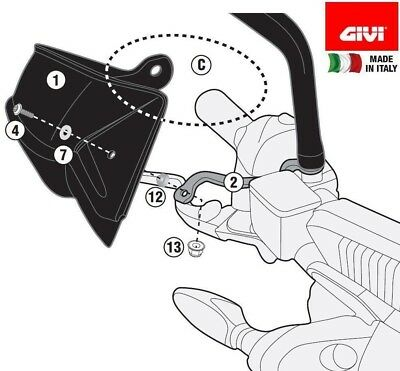 KTM Duke 390 2018 HAND GUARDS specific PROTECTORS Black Pair ABS new Givi HP7707