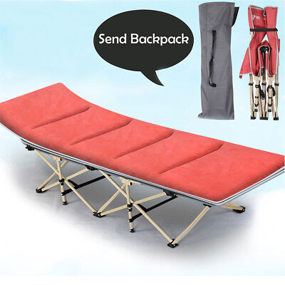 Portable Fold up Guest Foldable Folding Bed Mat Mattress Recliner Camping Hiking