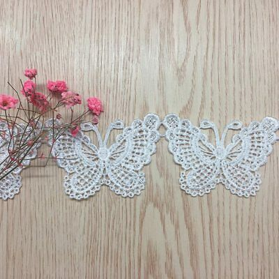 1Yd Lace Trim Butterfly Trimming Crochet Ribbon Sewing Crafts DIY Embellishment