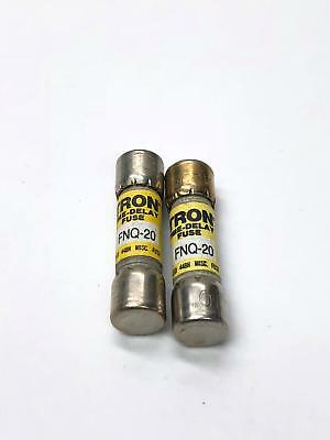 Bussmann Tron Time Delay Fuse FNQ-20 500V 20AMP Lot of 2