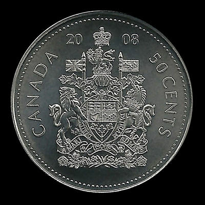 2008 CANADA 50 CENTS  Half Dollar COIN Uncirculated from roll