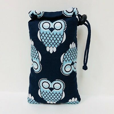 "Handmade 3"" X 6"" Padded  Pipe Bag / Pouch / Glasses Case / Owl Baby"
