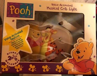Winnie the Pooh Voice Activated Musical Crib Night Light