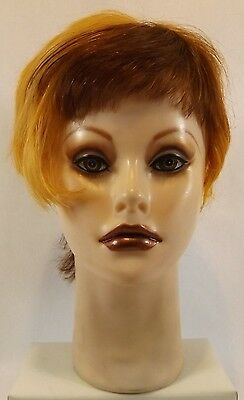 Clic Tiffany Mannequin Head with Cut & Styled & Multi Colored Hair Store Display