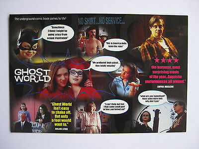 GHOST WORLD 2002 Orig Australian movie postcard Scarlett Johansson Daniel Clowes