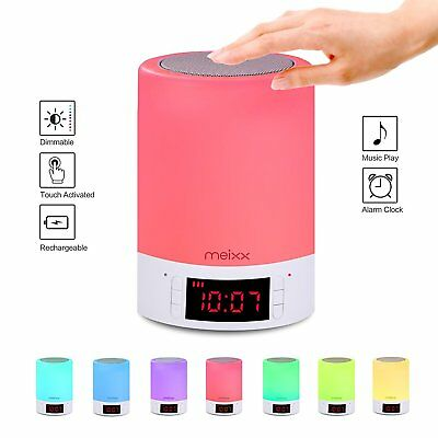 Meixx LED Bedside Lamp Bluetooth Speakers, Portable Wireless Speaker with LED #8