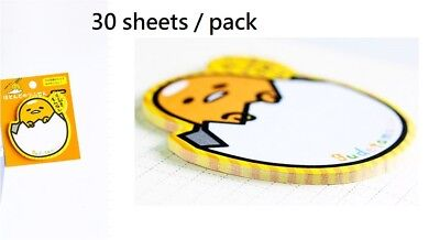 1 Pack of Gudetama Egg 30 Pages Writing Pad / Paper / Note / Sticky Pad Memo