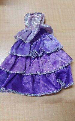 Barbie Purple Ruffled Dress Doll Clothes- M197
