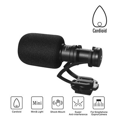 Comica CVM-VM10 II Cardioid Shotgun Video Microphone for iPhone DJI OSMO GoPro