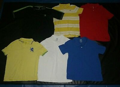 Lot (6) Men Polo Tees. Size LARGE. Express/ Hollister/ Beverly Hills Polo Club.