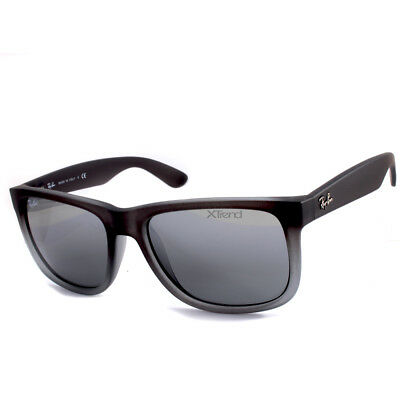 390d3ab204491 Ray-Ban RB4165 852 88 Justin Matte Grey Silver Mirror Sunglasses Sizes 51