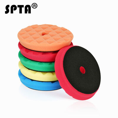 SPTA 6inch Mix Hardness Buffing pads Polishing Pads Polishing Grip-Select color