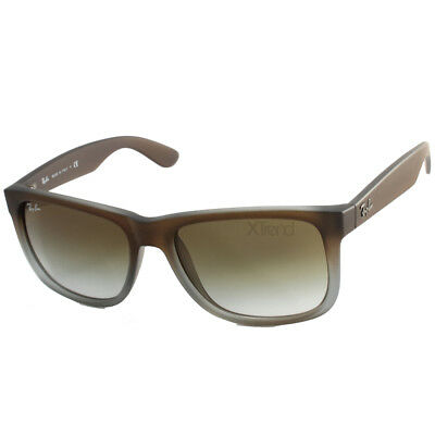 0bf46772ec RAY-BAN RB4165 854 7Z Justin Matte Brown Green Gradient Sunglasses Sizes 51  54 -  103.92