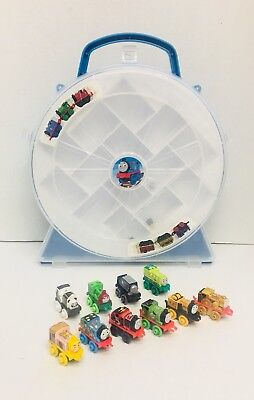 10 Thomas the Train and Friends MINIs & Carrying Case Collector's Playwheel