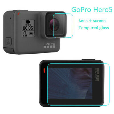 For Gopro Hero 6/5 Screen Protector / Lens Protect 9H Hardness Tempered Glass