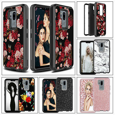 Phone Case For LG G7 ThinQ Shockproof Hybrid Patterned Rugged Bumper Armor Cover