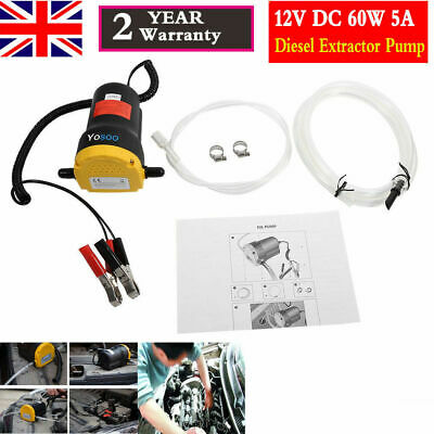Car Vans Electric Fluid Extractor Fuel Oil Diesel Transfer Pump Siphon DC12V 60W