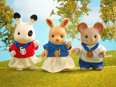 Sylvanian Families Calico Critters Olympic Games Winner Podium Set