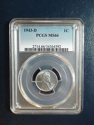1943 D Lincoln Wheat Cent PCGS MS66 STEEL GEM 1C Penny Coin PRICED TO SELL!