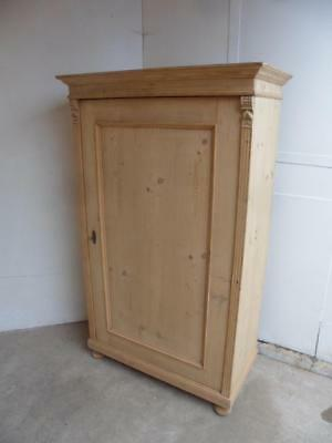 A Late Victorian Antique Pine Large 1 Door Multi Functional Storage Cupboard