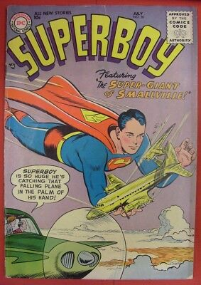 Superboy 50 Dc Silver Age Comic Schiff Boltinoff Coleman Binder Sikela 1956 Vg