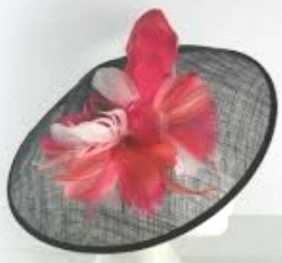 Ladies Hat Black Pink Fascinator New Marks And Spencer One Size Headband