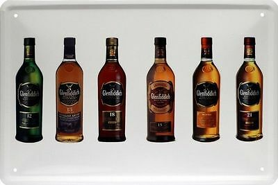 Blechschild 20x30 GLENFIDDICH Scotch Singe Malt Whisky Whiskey Bar Metall Schild