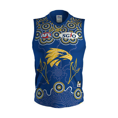West Coast Eagles AFL 2018 ISC Indigenous Guernsey Adults & Kids Sizes!