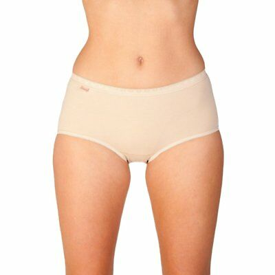 Camille Womens Ladies Underwear Midi Brief Three Pack Beige