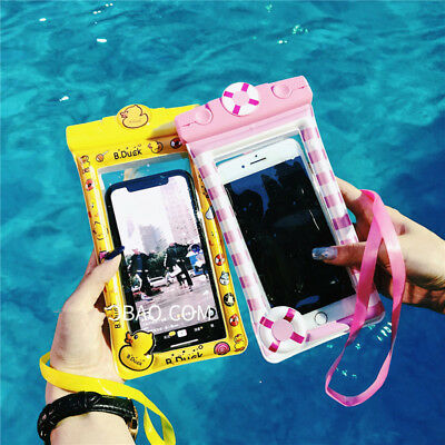 New Cute Cartoon Under Water Dust Proof Dry Pouch Bag Cover Protector Cell Phone