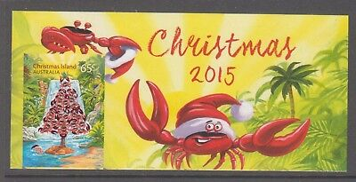 Christmas Island 2015 Christmas Tree embellished descriptive  label. Crab.