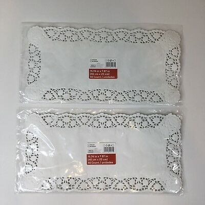 Rectangle Doilies 60 Count White Paper Floral Daisy Lace Catering Wedding