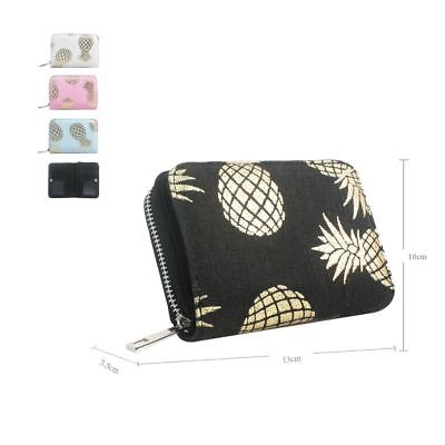 Women's Short Designer Style Purse With Pineapple Print Girls Purse