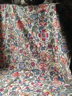 Vintage French Fabric, Floral Jacobean Style Fabric Furnishing Home Decor 250x78