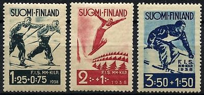 Finland 1938 SG#321-323 Skiing Contest MNH Set #D73272