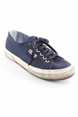 SUPERGA Scarpa stringata blu scuro stile da moda di strada Donna Taglia IT 39